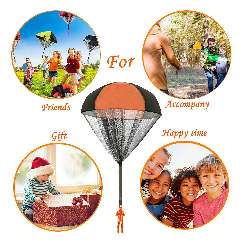 Jeu De Lancement Cr/éatif De Vol De Main De Tangle-Libre Comius Parachutiste Jouet 4 Pcs Main Lancer Parachute Jouet