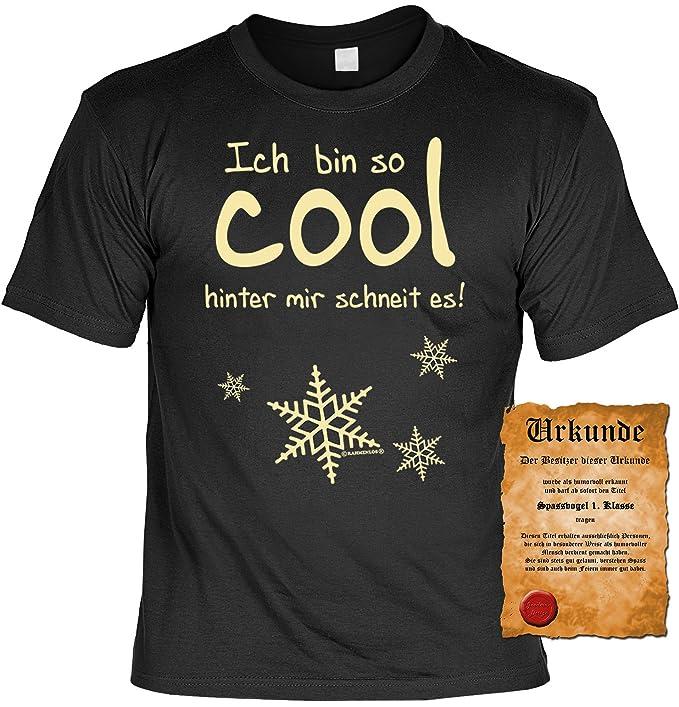 Ich Bin So Cool Hinter Mir Schneit Es Geile Spruche T Shirt Mit