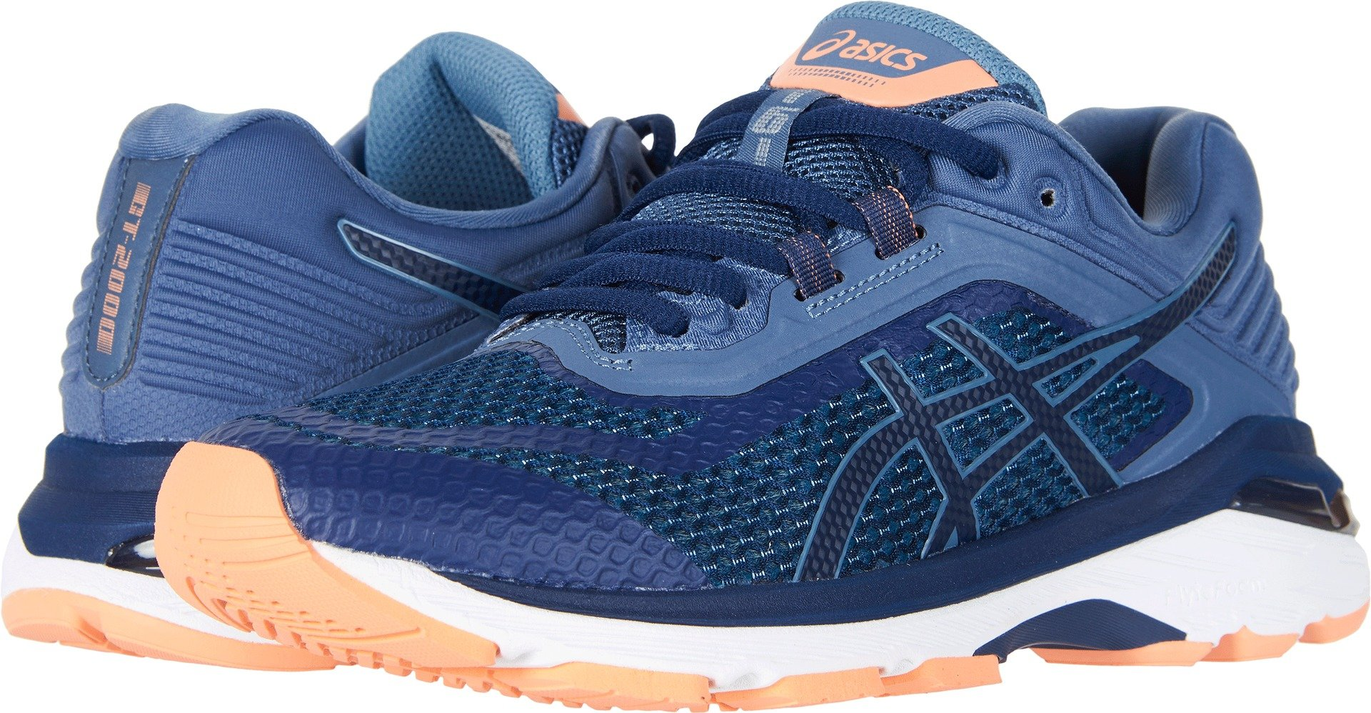 ASICS GT-2000 6 (D) Women's Running Shoes Indigo Blue/Indigo Blue/Smoke Blue 8