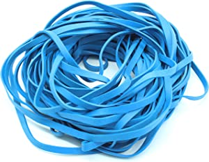 """Garbage Trash Can Rubber Bands Blue Large Size 17"""" Inch Rubberbands for Kitchen Compactor Tote Bin 55-65 Gallon for 95, 96-100 Gal Toter. Oversize Big Bag Liner Holder, 55 Drums Litter Pails, Buckets"""