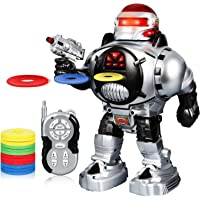 SGILE Kids Robot Toy, RC LED Combat Programmable Interactive Robotic for Kids