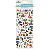 Paper House Productions STM-0002 Outdoors Micro Stickers, 3-pack, 3 Count