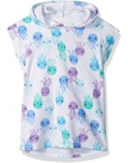 981fa999a0ef7 Gymboree Toddler Girls' Short Sleeve Octopus Print Hooded Cover-up