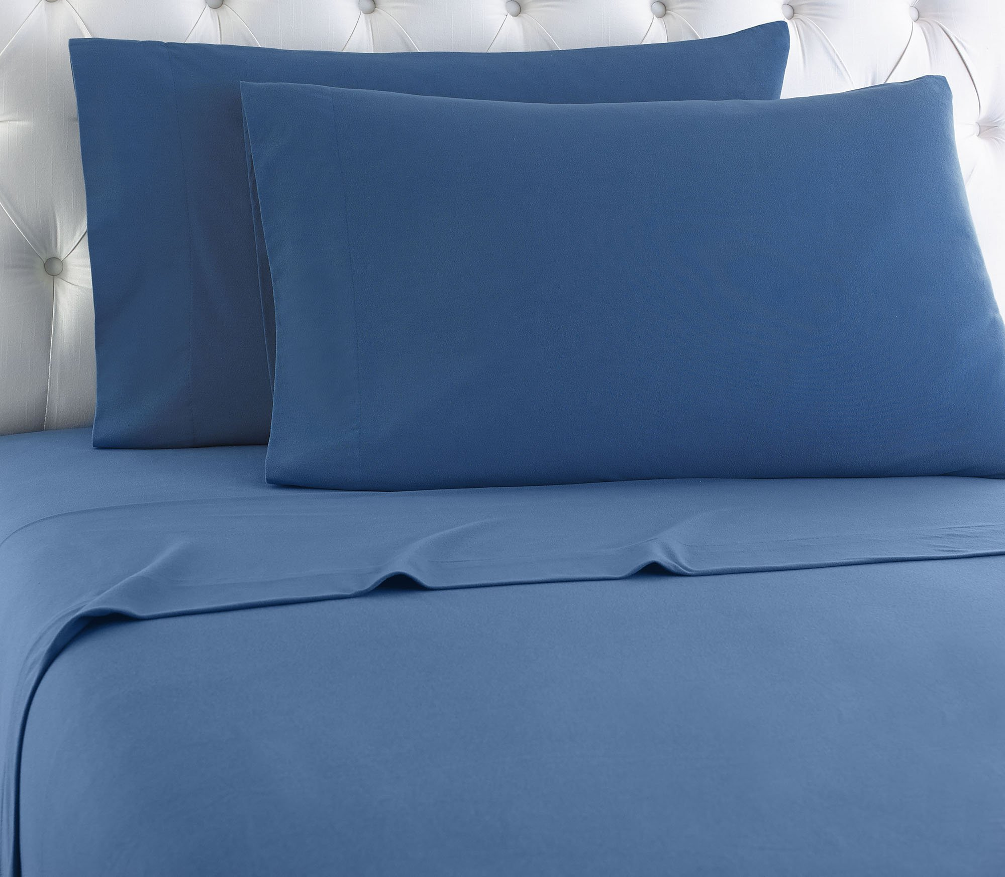 Thermee Micro Flannel Shavel Home Products Sheet Set, Country Blue, Twin