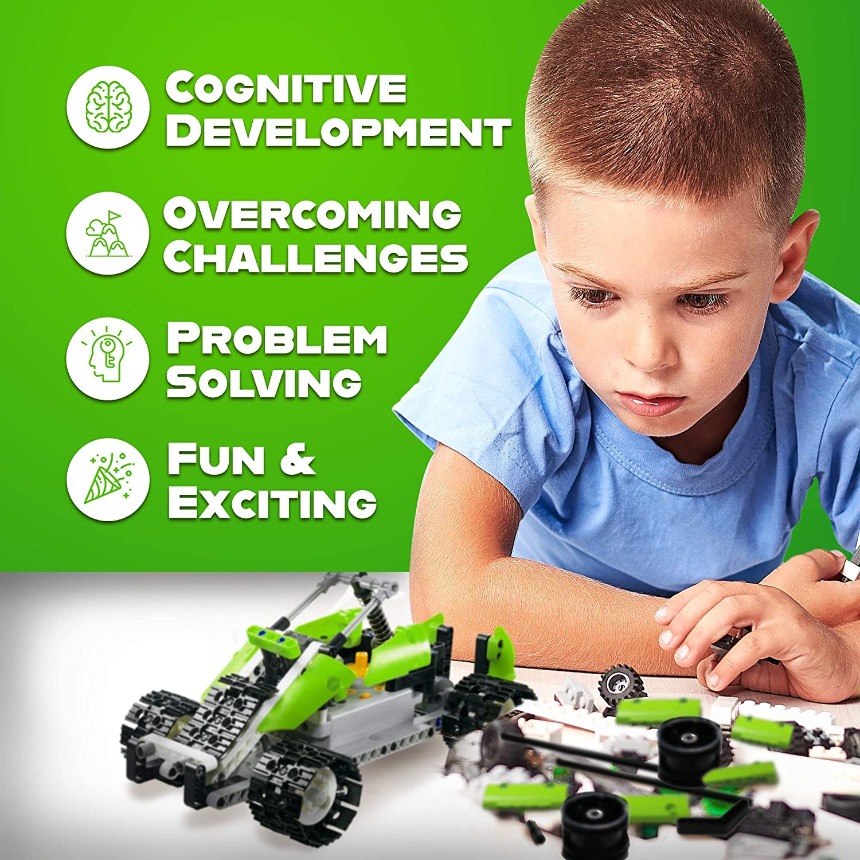PCS RC Car Kit Perfect Educational Toy Gift 5 in 1 Remote Control STEM Building Blocks Car Tank 400