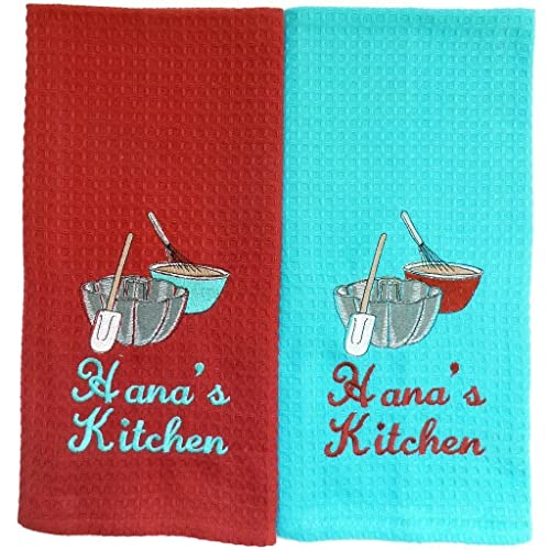 Amazon Custom Embroidered And Personalized Waffleweave Kitchen