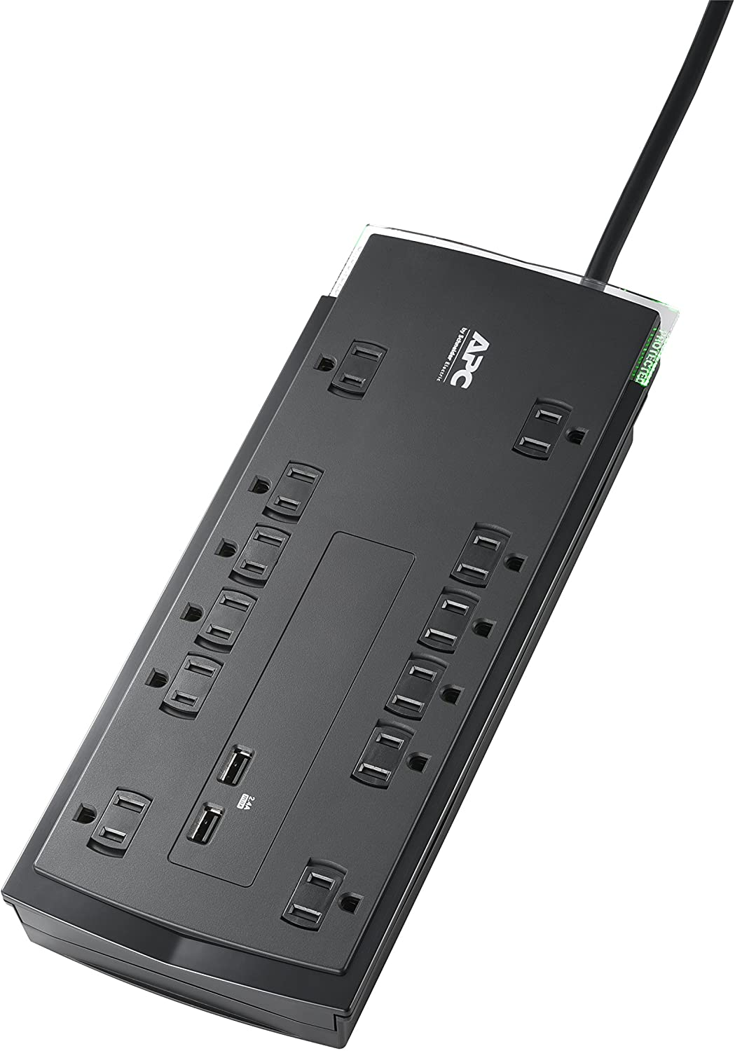 APC P12U2 Surge Protector Power Strip with USB Ports