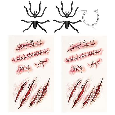 Milacolato Decoración de Halloween 3D Espeluznante Black Spider ...