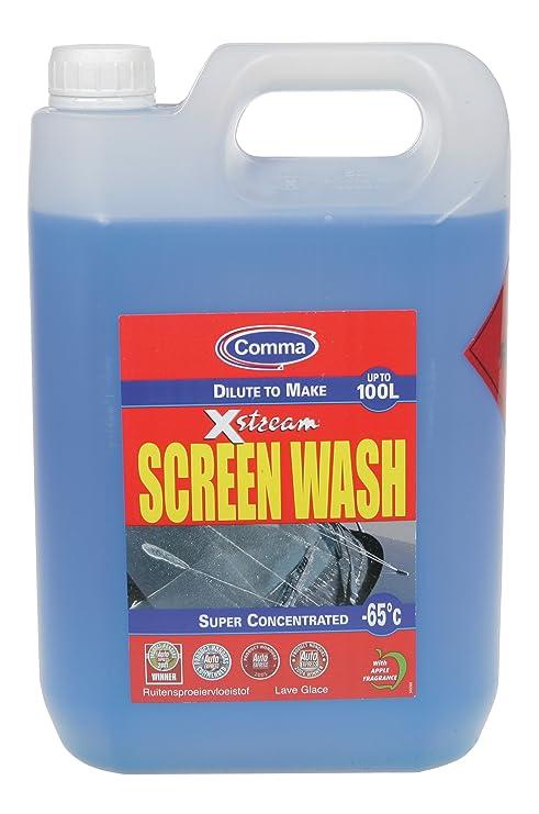 Coma Xstream Screenwash -65c pantalla 5ltr Mantenimiento Car Wash LAVADO DE COMA LA PANTALLA 5LT