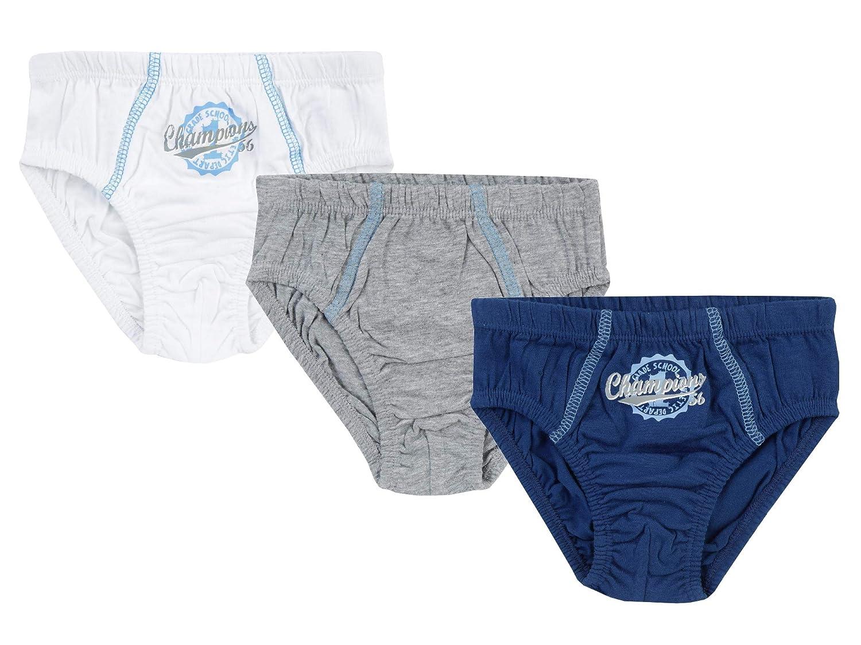 Jacky garçon lot de 3 slips, Classic Boys, gris-bleu-blanc, 98/104 (3-4 ans), 711395 Jacky_4001742383358