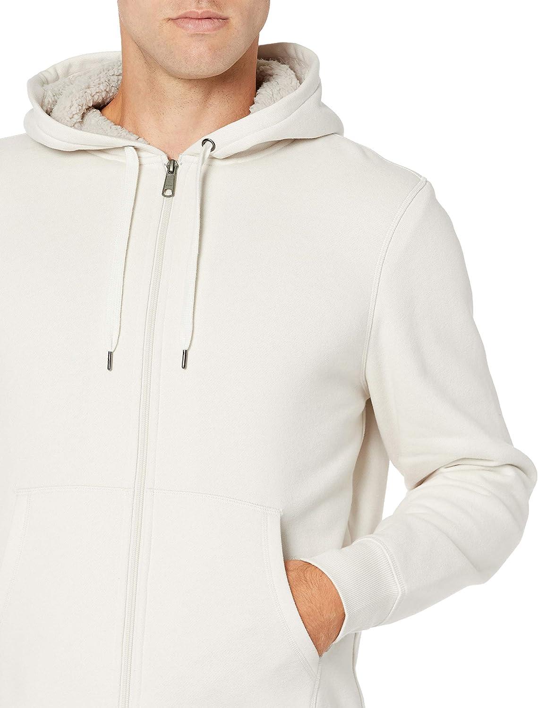 Essentials Sherpa Lined Full-Zip Hooded Fleece Sweatshirt Hombre