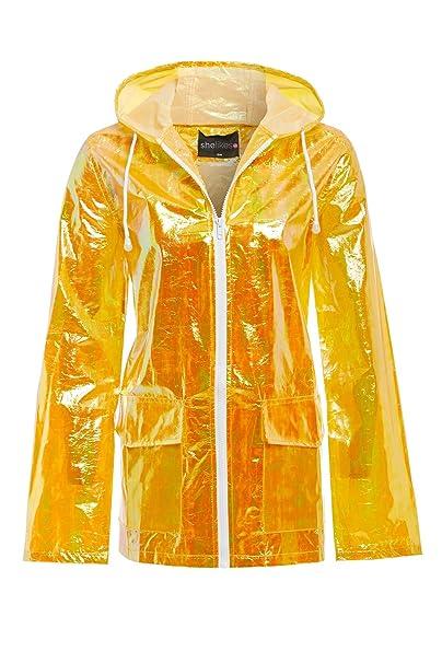 Ladies Festival Jacket Raincoat Hooded Lightweight UK Stock 4 Colours Pink