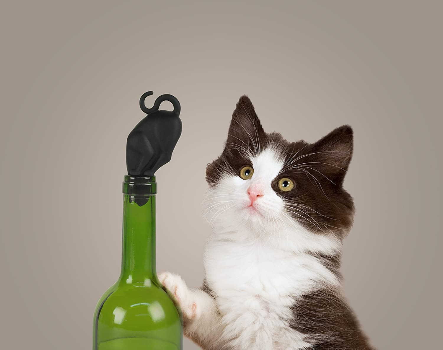 Fred and Friends Stop Kitty Black Cat Butt Wine Bottle Stopper Preserve Funny Gift