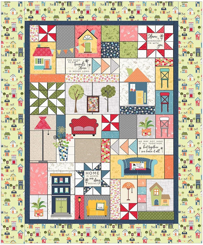 Kim Christopherson Make Yourself at Home 刺繍装飾キルトキット メイウッドスタジオ B07PPXNZ4T