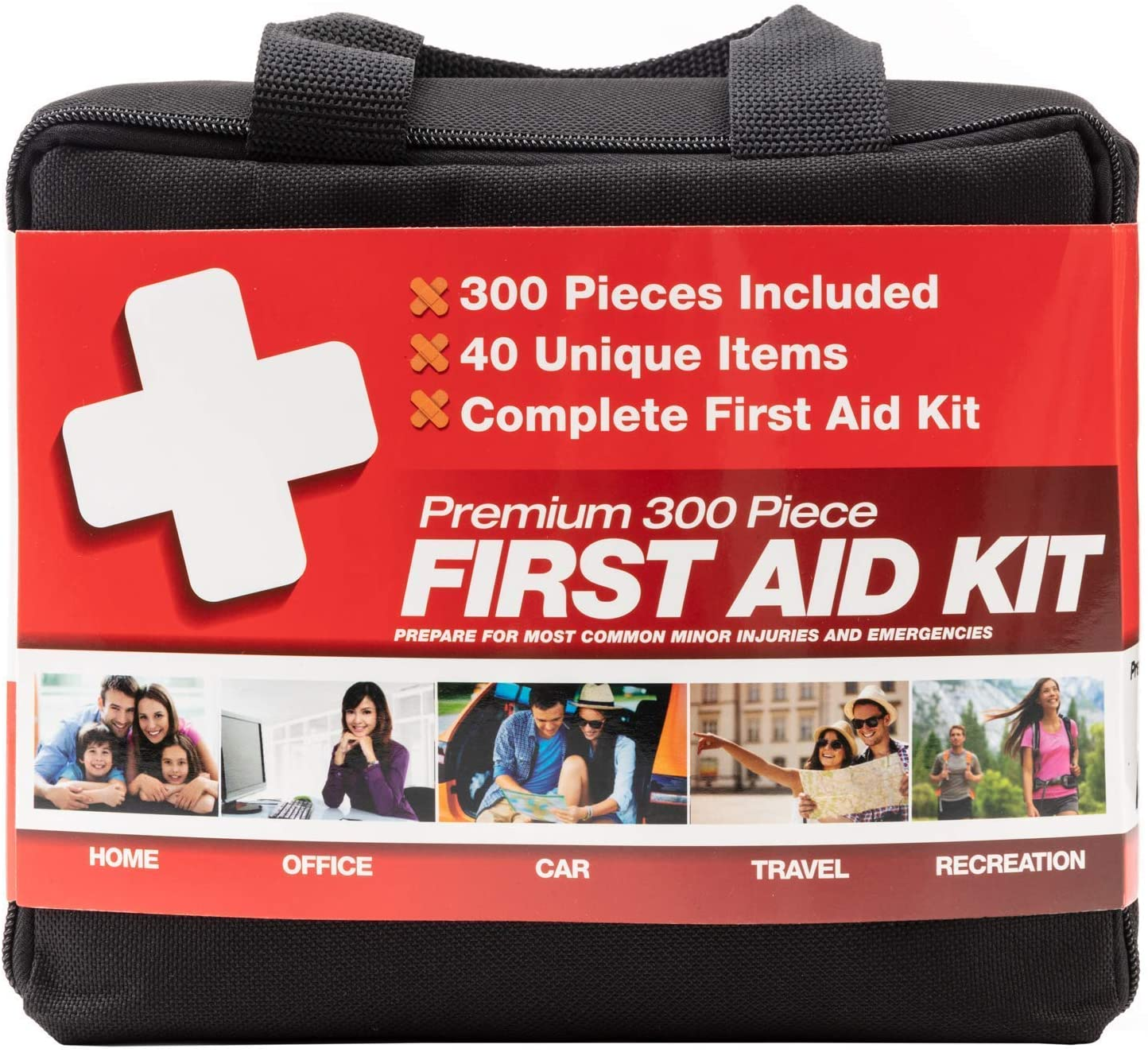 M2 BASICS 300 Piece (40 Unique Items) First Aid Kit