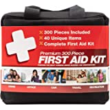 M2 BASICS 300 Piece (40 Unique Items) First Aid Kit | Premium Emergency Kits | Home, Camping, Car, Office, Travel, Vehicle, S