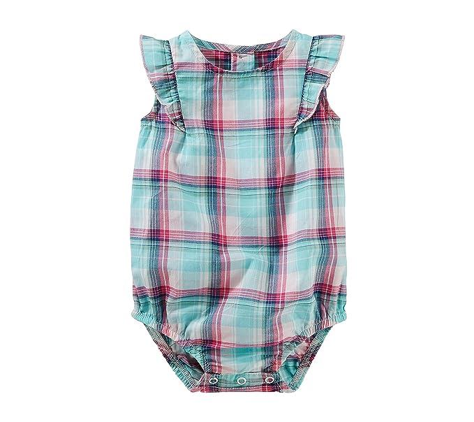 37aa16dcd2a Amazon.com  OshKosh B Gosh Baby Girls  Plaid Poplin Bodysuit  Clothing