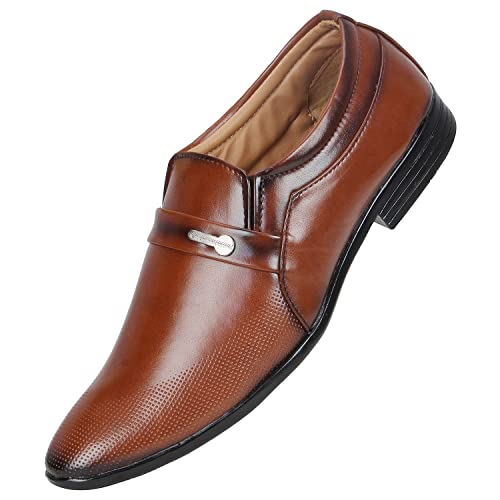 678e9cefe922 Emosis Men s Stylish 0293 Tan Brown Black Colour Office Party Wear Formal  Moccasin Slip-On Shoe  Buy Online at Low Prices in India - Amazon.in