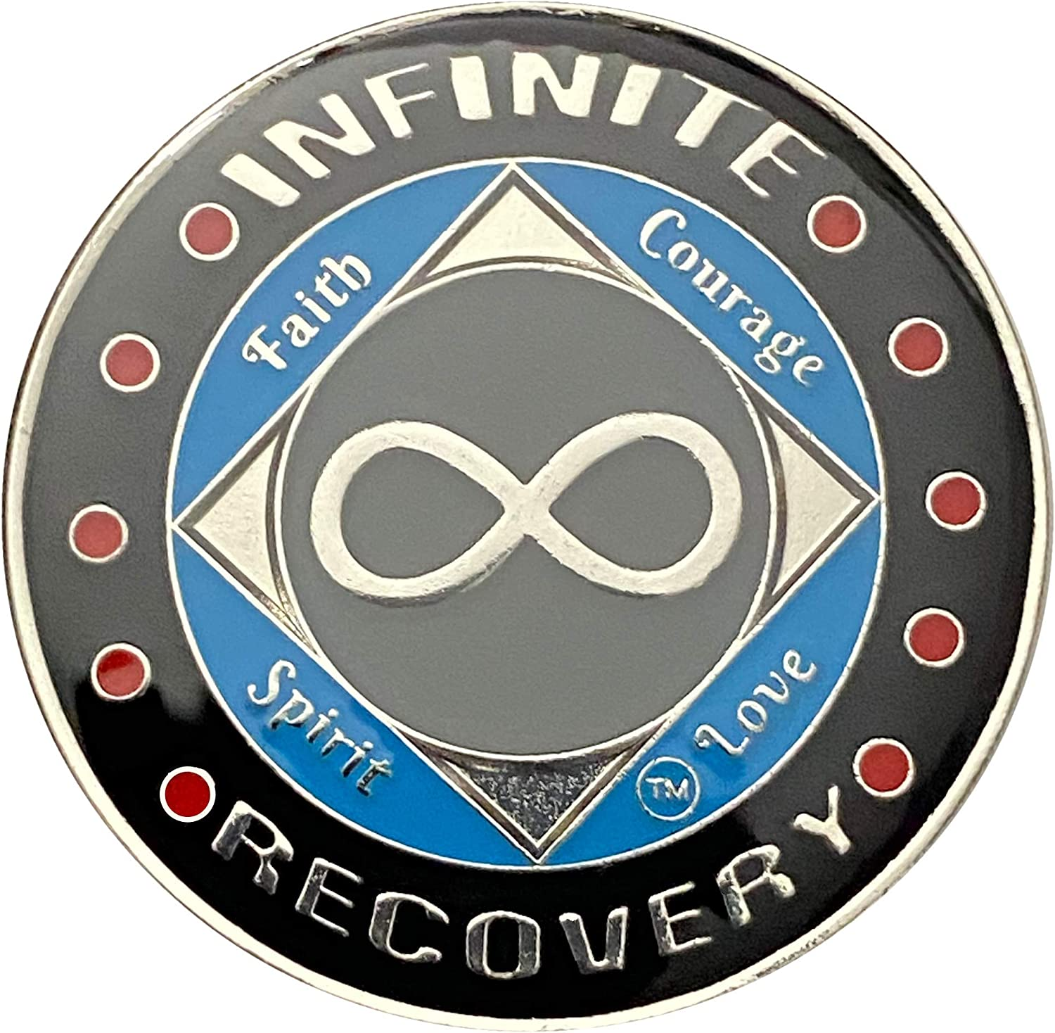 Simply Minimal NA Infinity Coin Silver Plated Medallion,12 Steps Recovery NA Infinite Token