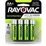 Rayovac Rechargeable AA Batteries, Rechargeable Double A Batteries (8 Count)