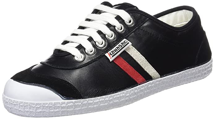 Kawasaki 30retro LTH, Sneakers Basses Homme - Noir - Blck Red/WHT, 38 EU
