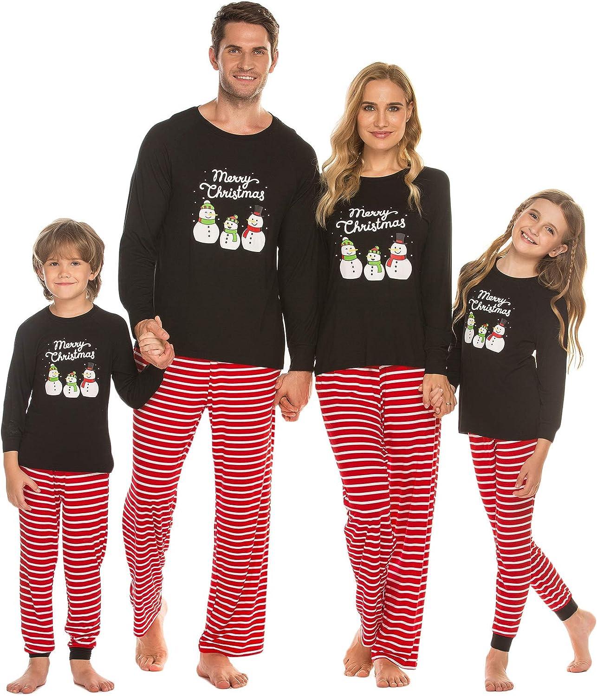 Ekouaer Matching Family Pajamas Set Christmas Pjs Long Sleeve Holiday Sleepwear At Amazon Women S Clothing Store