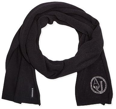 Armani Jeans écharpe femme en laine strass noir  Amazon.fr ... cbd8dbcf95d