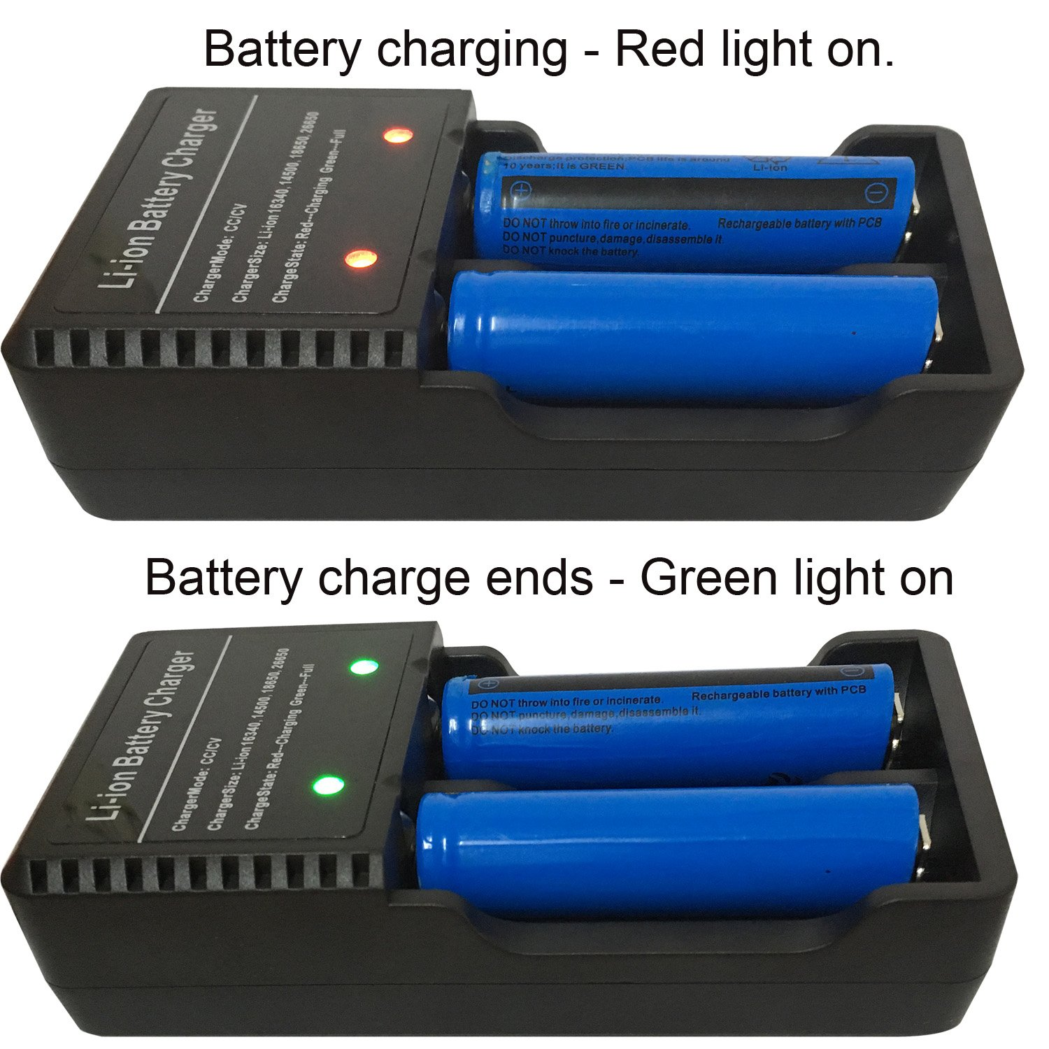 2pcs 18650 Battery And Usb Charger 3000mah 37v Li Xpower 2600mah Liion W Protection Circuit Free Ion Rechargeable For Headlamp Handheld Flashlights Portable Fan Etc