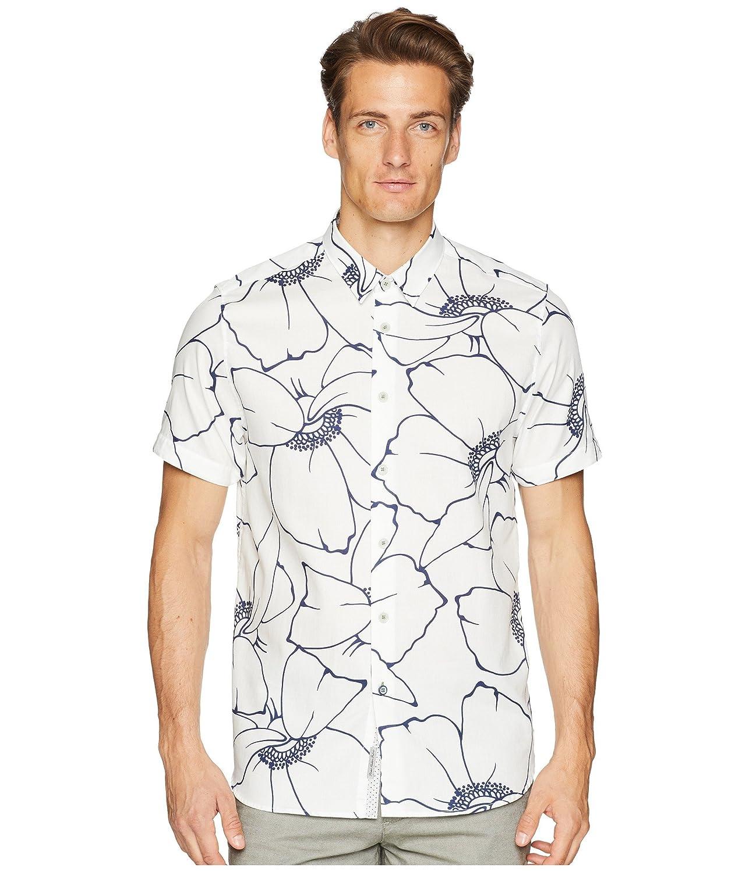[テッドベーカー] メンズ シャツ Andle Short Sleeve Linear Floral Shirt [並行輸入品] B07F2XKBSV 6_(XL)