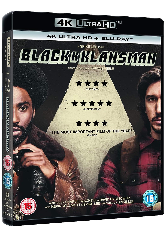 Blackkklansman 4K Uhd 2 Blu-Ray Edizione: Regno Unito Blu-ray ...