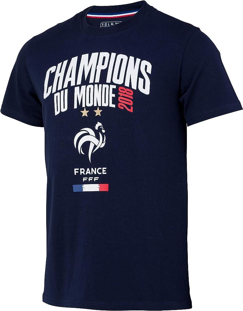 Camiseta del equipo de fútbol FRANCE del Campeón del Mundo 2018 – Colección oficial, Hombre, azul, medium: Amazon.es: Ropa y accesorios
