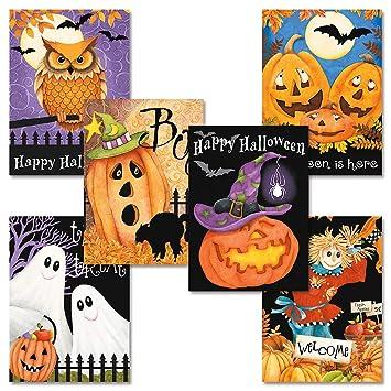 Amazon.com: Happy Haunting Halloween tarjeta de felicitación ...