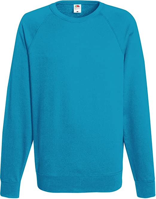 8dd4fd39ed42 Fruit of the Loom Herren Sweatshirt Lightweight Raglan Sweat  Amazon.de   Bekleidung
