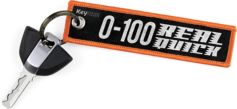 KEYTAILS Keychains Scooter ATV Car Premium Quality Key Tag for Motorcycle UTV 0-100 Real Quick