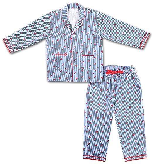 da51af1ae ShopMozo - Cotton Blue Striped Boys Night Suit ( Boys Night Dress ...