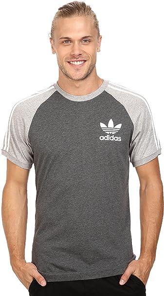 Adidas Originals Adicolor Raglan California Tshirt In Red