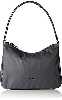 Damen Barcelona Nylon 15 Schultertasche, Schwarz (Black), One Size Bree