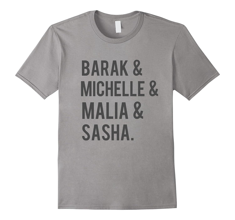 Barak & Michelle & Malia & Sasha