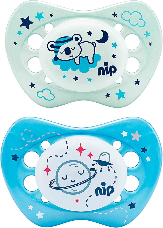 NIP Night - Chupete luminoso (apto para la mandíbula, reduce la ...