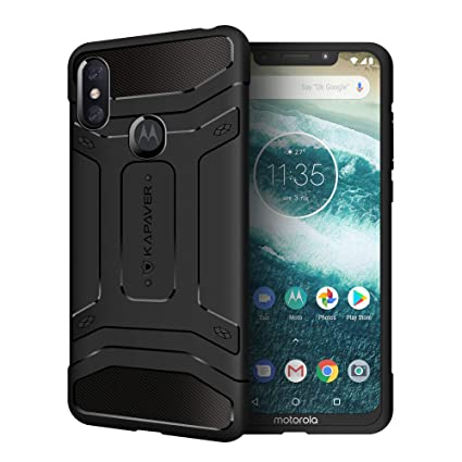 super popular e7de0 db53a KAPAVER® Moto One Power P30 Note Rugged Back Cover Case MIL-STD 810G  Officially Drop Tested Solid Black Shock Proof Slim Armor Patent Design  (Only ...