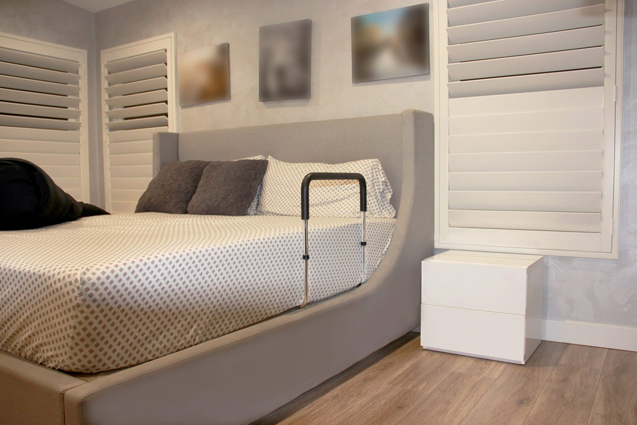 Everyday Medical Adjustable Bed Rail, Metal Bed Mobility ...