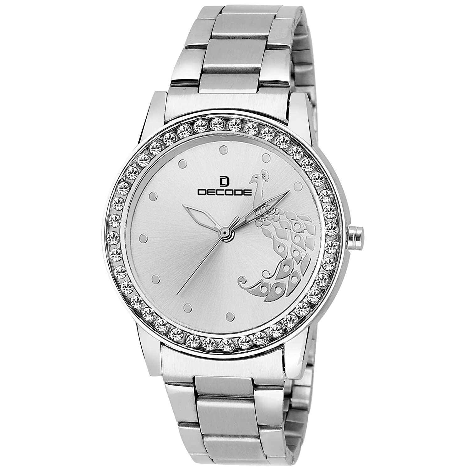 Buy Decode Analogue Silver Dial Women\'s Watch -Ladies Lr-2120 Chain ...
