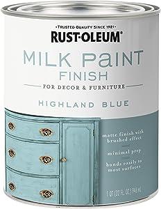 Rust-Oleum 331050 Finish Milk Paint, Quart, Highland Blue