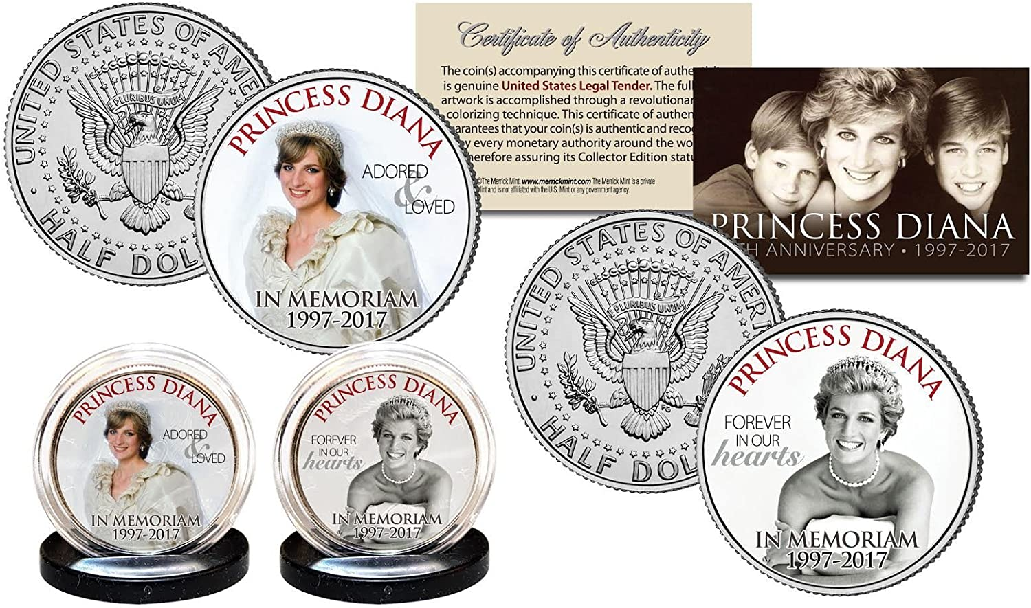 BRITISH MONARCHY Princess Diana /& Royal Family THEN /& NOW Official U.S $2 Bill