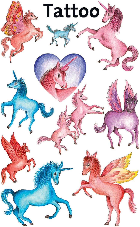 Tatouages pour enfants licornes 10 Designs Licornes