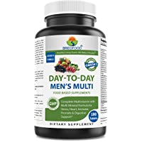 BRIOFOOD Day-to-Day Men's Multi 180 Tablets - Food Based Supplement with Vegetable Source Omegas