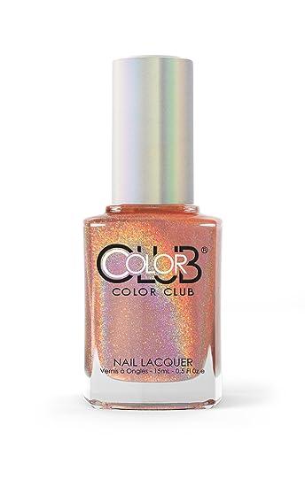 Amazon.com : Color Club Halographic Hues Nail Polish, Peach, Cosmic ...