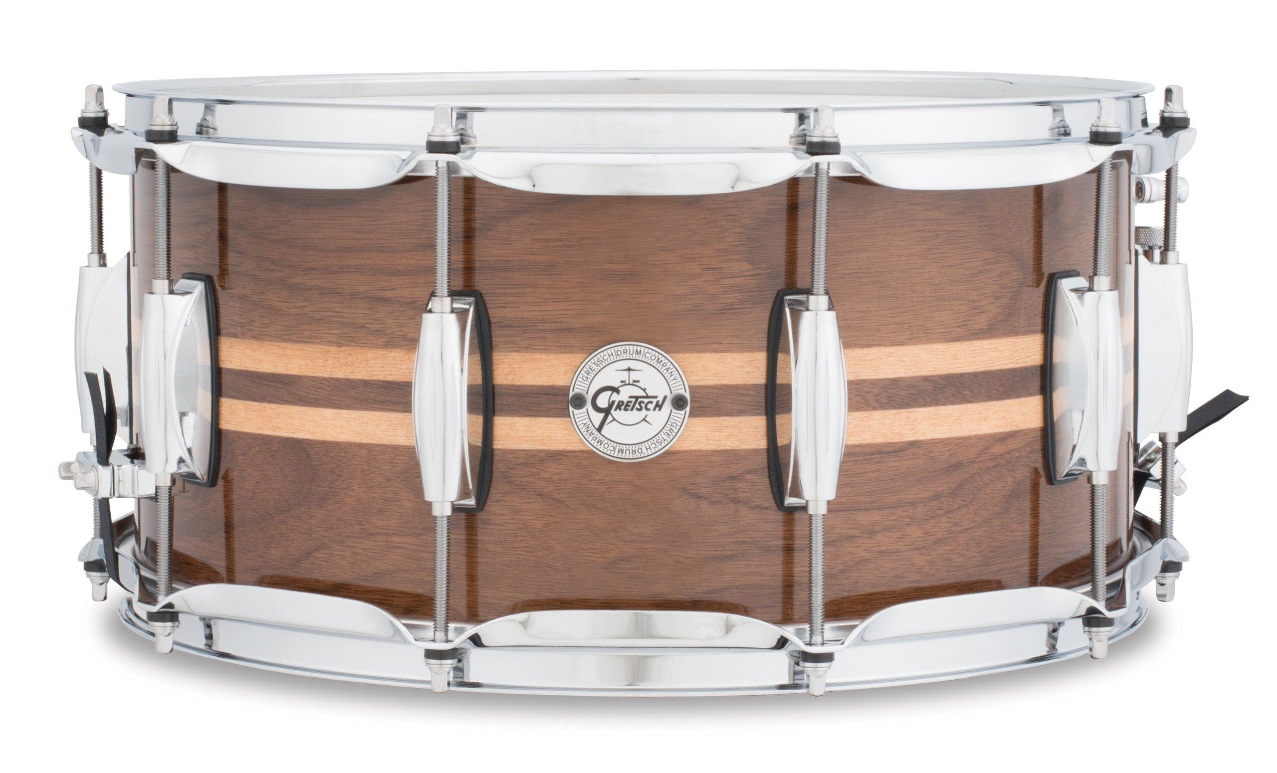 Gretsch Drums Full Range Series S1-6514W-MI 14x6.5'' Gloss Walnut Snare W/Maple Inlay