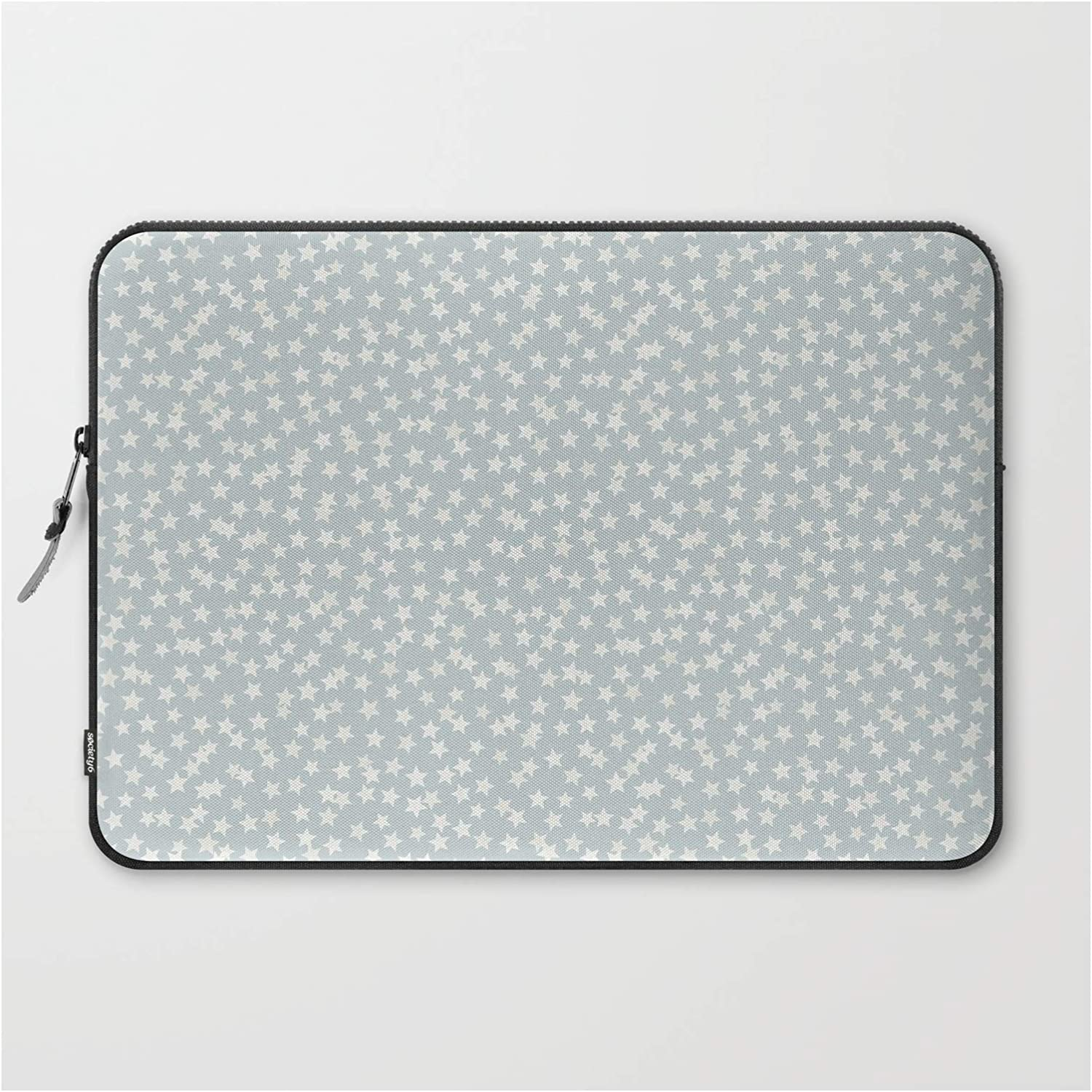 """Laptop Sleeve - Laptop Sleeve - 15"""" - Silver Stars Confetti by Kind of Style"""