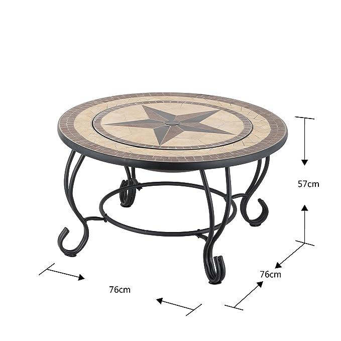 Mari Garden Vigo - Mesa baja de jardín, redonda y con diseño ...
